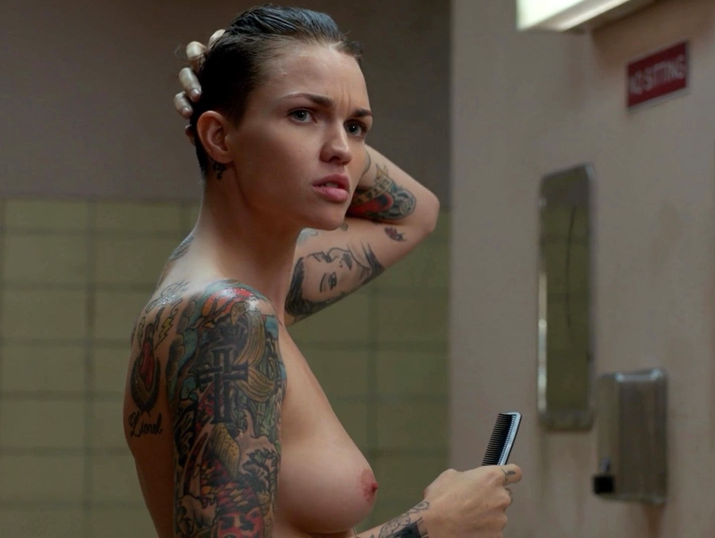 Taylor schilling nude topless and ruby rose nude butt and topless